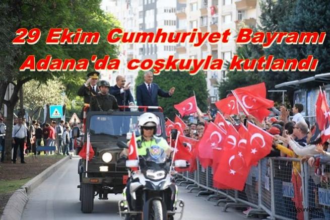 29 Ekim Cumhuriyet Bayramı Adana'da coşkuyla kutlandı