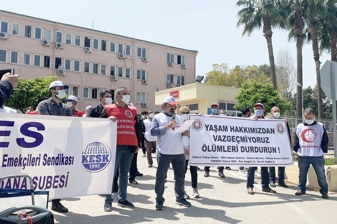 Adana'da TTB'den uyarı, Yaşam Hakkımızdan Vazgeçmiyoruz Ölümleri Durdurun!