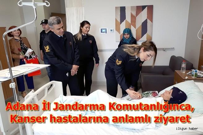 Adana İl Jandarma Komutanlığınca,Kanser hastalarına anlamlı ziyaret