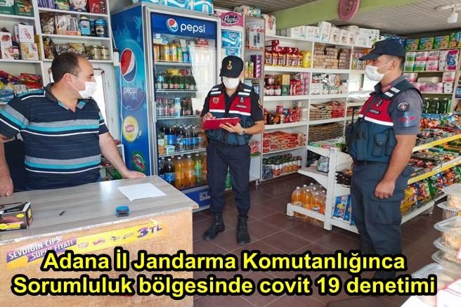 Adana İl Jandarma Komutanlığınca sorumluluk bölgesinde covit 19 denetimi
