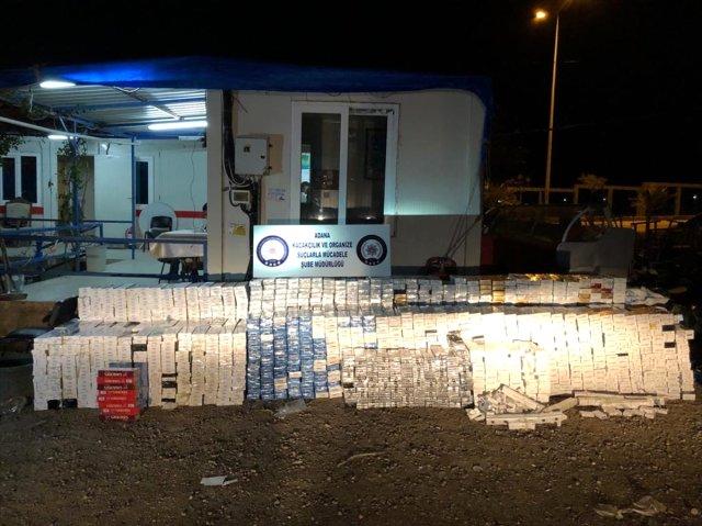 Adana'da Kaçak Sigara Operasyonu