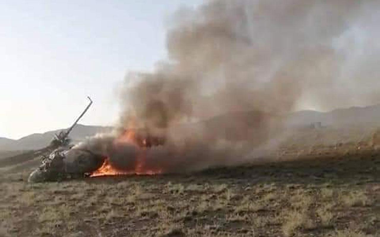 Afganistan'da askeri helikopter düştü: 3 ölü, 1 yaralı