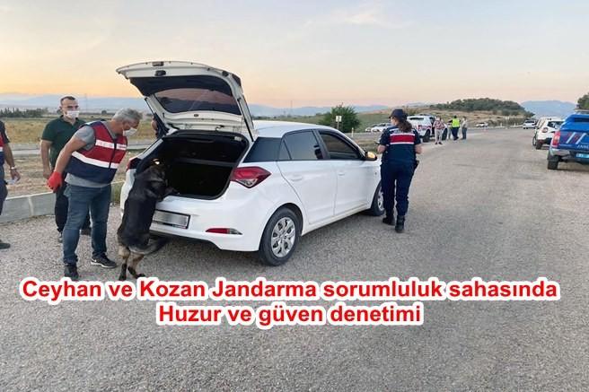 Ceyhan ve Kozan, Jandarma sorumluluk sahasında huzur ve güven denetimi