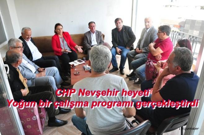 CHP Nevşehir heyeti yoğun bir çalışma programı gerçekleştirdi