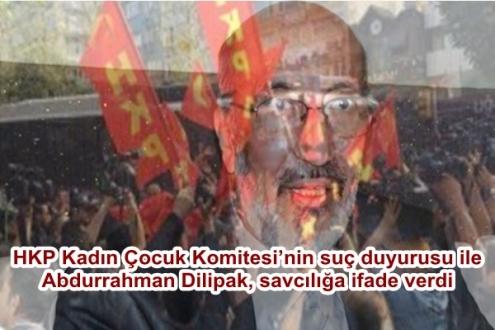 HKP Kadın Çocuk Komitesi'nin suç duyurusu ile Abdurrahman Dilipak, savcılığa ifade verdi