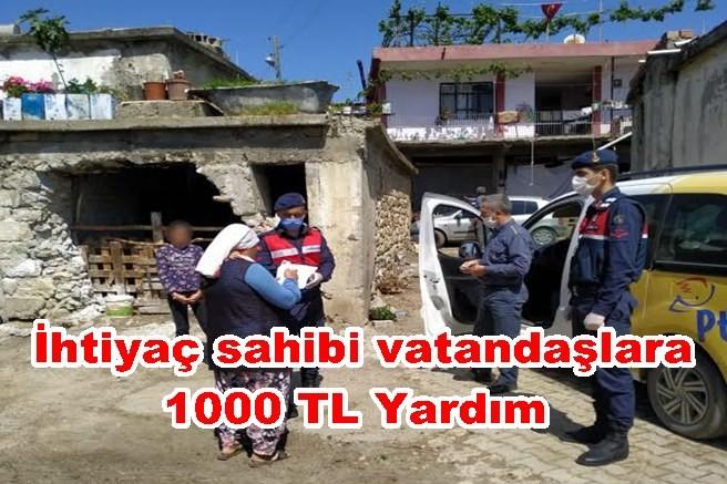 İhtiyaç sahibi vatandaşlara 1000 TL Yardım