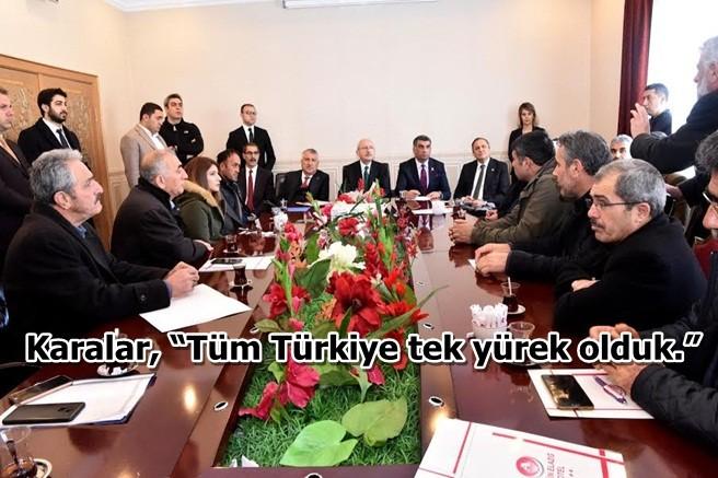 """Karalar, """"Tüm Türkiye tek yürek olduk."""""""