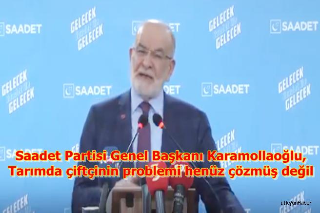 Karamollaoğlu, Tarımda çiftçinin problemi henüz çözmüş değil