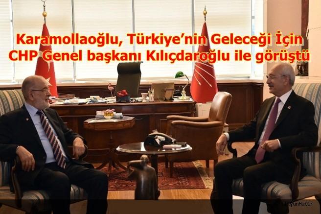 Karamollaoğlu, Türkiye'nin Geleceği İçin Kılıçdaroğlu ile görüştü