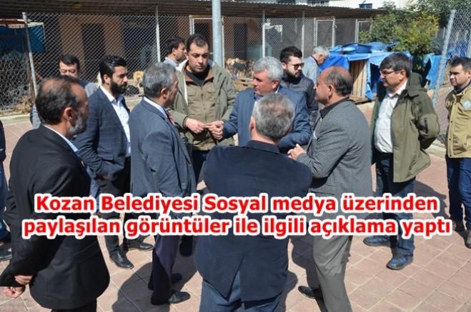 Kozan Belediyesi Sosyal medya üzerinden paylaşılan görüntüler ile ilgili açıklama yaptı