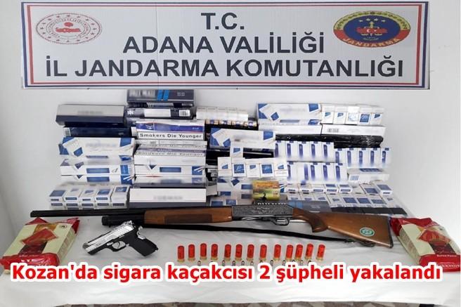 Kozan'da sigara kaçakcısı 2 şüpheli yakalandı