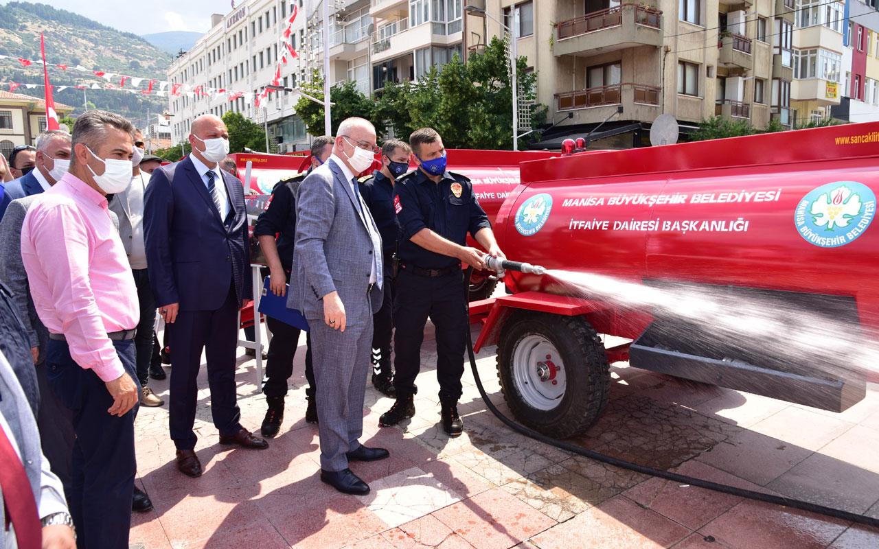 Manisa İtfaiyesi'nden muhtarlara 20 yeni tanker daha