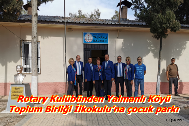 Rotary Kulübünden Toplum Birliği İlkokulu'na çocuk parkı
