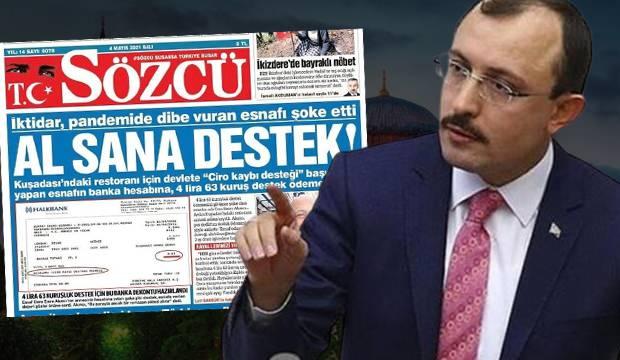 Sözcü gazetesinin manşetteki yalan balonunu Bakan Muş patlattı