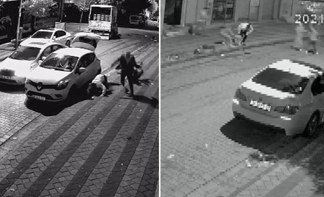Sultangazi'de dehşet anları: 4 kişi bina önünde silahlı saldırıya uğradı