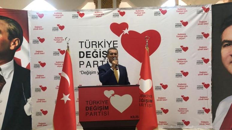 Türkiye Değişim Partisi Genel Başkanı Mustafa Sarıgül, partisinin Kilis İktidara Hazırlık Merkezi açtı