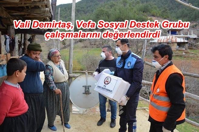Vali Demirtaş, Vefa Sosyal Destek Grubu çalışmalarını değerlendirdi