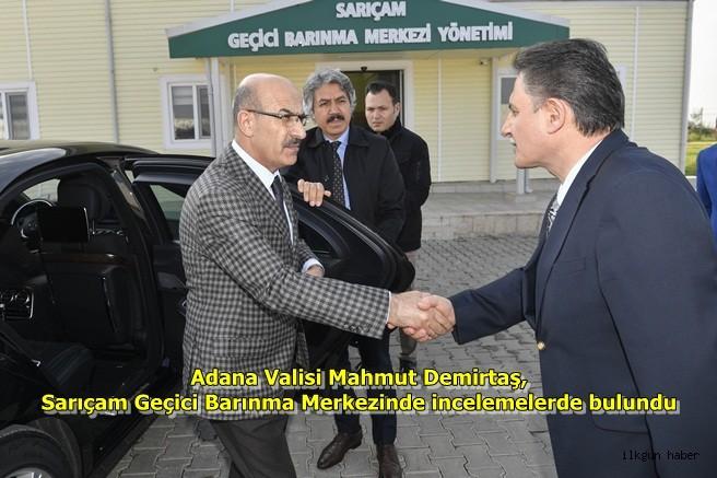 Vali Mahmut Demirtaş, Sarıçam Geçici Barınma Merkezinde incelemelerde bulundu