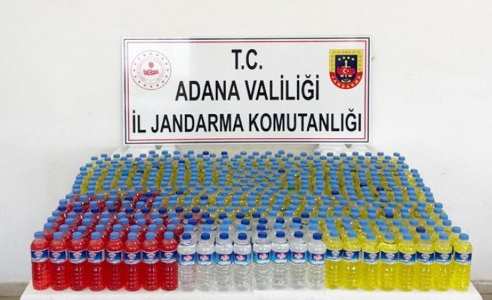 Yüregir'de 230 litre Sahte İçki ele geçirildi